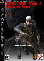 MGS4 Game Cover by metalgearsolidfans