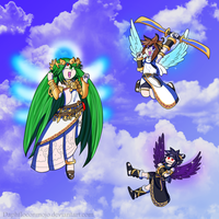 Kid Icarus team by DaphfloconMojo