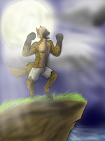 Howling at the moon by Makarimorph