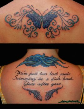Back Tattoo collage 1 by MuddyGreen