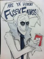 Are ya' hungry, Fussy Fangs?! by TOXIICchiichii