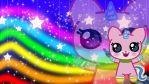 Chibi Unikitty Wallpaper by CraftHarmony