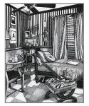 Ink Stipple Of A Room by reyjdesigns