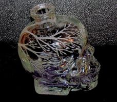 Recycled Dan Aykroid Skull Vodka Bottle by MadEtcha