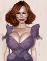 Christina Hendricks again by DevonneAmos