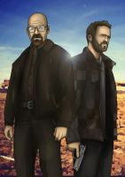 Breaking Bad- Walter White and Jesse Pinkman by MatthewHogben