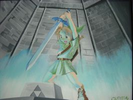 Link Claiming his Blade- SOLD by DNLINK