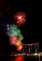 Marina Bay Sands Fireworks by melvynyeo