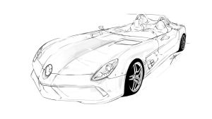 Mercedes Rough Sketch *WIP* by KhoaSV