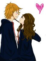 Ron and Hermione by zomq