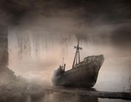 Dream - Ship Matte Painting by Fingerpflaster