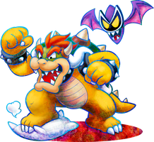 Bowser and Antasma working together 0_0 (Poster) by DryBowzillaJP