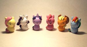Mini Ponies: Mane 6 by CadmiumCrab