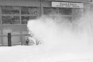 2015 February Snow Storm, Snow Blowing by Miss-Tbones