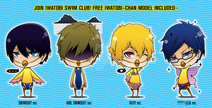 Iwatobi-chan Bookmark by Aniteen9