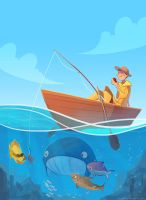 gone fishing by scrii