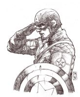 Captain America Sketch by AdmiraWijaya