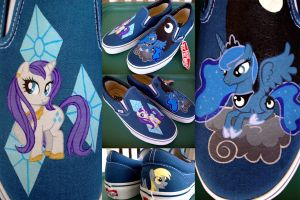 Rarity and Luna Slip-Ons by psaply