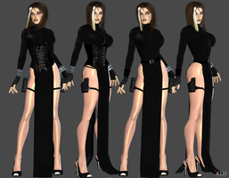 Doppel Sexy Long Dress WIP by ZayrCroft