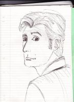 Tenth Doctor head sketch 2 by frogoat