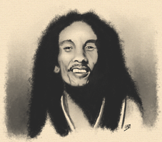 Bob Marley by GallienA