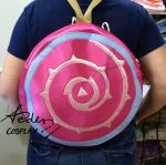 Rose Quartz's shield backpack by Aedes-cosplay