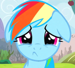 Rainbow Dash Cries by NinjaShade
