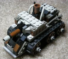 Light Steam Tank Mk. V (front) by RRaillery