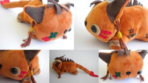 Red XIII Plushie by Lyseebell