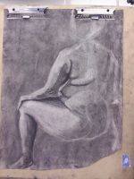 Life Drawing - value study by dichotomies