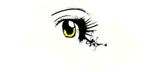 eye 1st drawing with damuro by Flylend