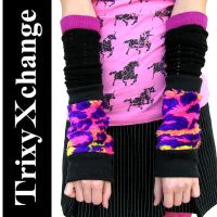 TX Pink Leopard Fur Arm Cuffs by TrixyXchange