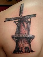 Dutch Windmill by NelsonMandingo