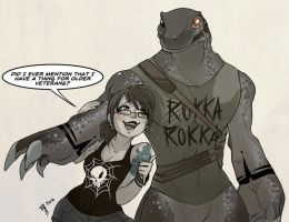 What a fangirl by Inked-Alpha