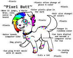 Pixel Butt (Dog) Adoptable .:Closed:. by GeXeHeNNa