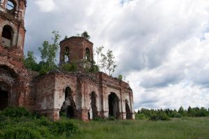 Ruins of a church stock #1 by croicroga