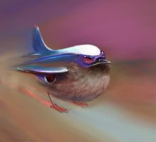 Leaving on a jet ...bird . PS by nosoart