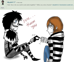 Ask Laughing Jack-Question 52. by MikaelBratLoni
