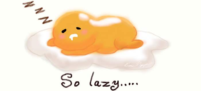 Lazy but Adorable Egg by MirabelleLeaf31