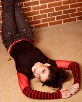 Red and Black Girl Stock 6 by kristyvictoria