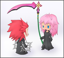 Axel and Marluxia by Rydiah