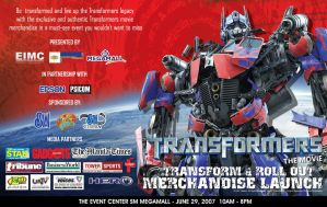 Transformers movie event AD by transformersph