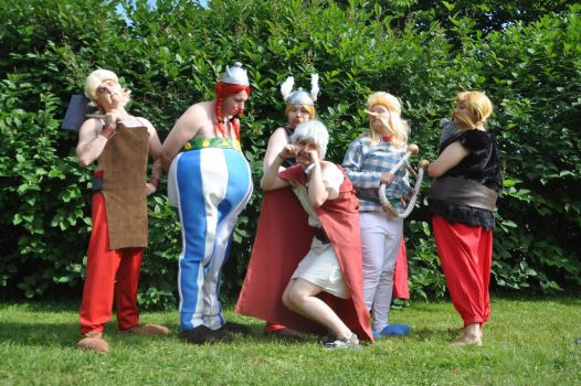 Asterix and Obelix Group by NaruDossu