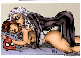 BC and MJ Renato Camilo colored by Nearphotison by Wesker1984