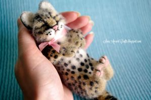 Sleeping baby ocelot for S. by SaniAmaniCrafts
