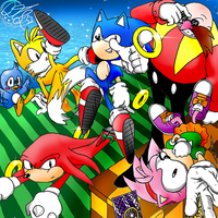 Classic Sonic Team by QT-Star