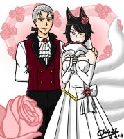 LoL -  A Lovely Wedding (Ahri x Vlad) by chazzpineda