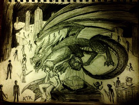 Ender Dragon Herobrine: Welcome to the End, Steve by ATRbacon