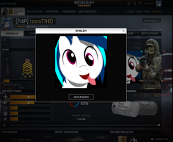Vinyl Scratch Battlefield 4 Emblem by P3r0