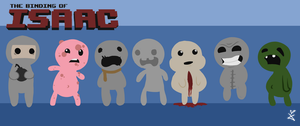 Binding of Isaac, seven deadly sins by KittyBirdyCake